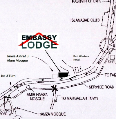 Embassy Lodge Islamabad Travel Culture Book With Local - Us consulate dubai map