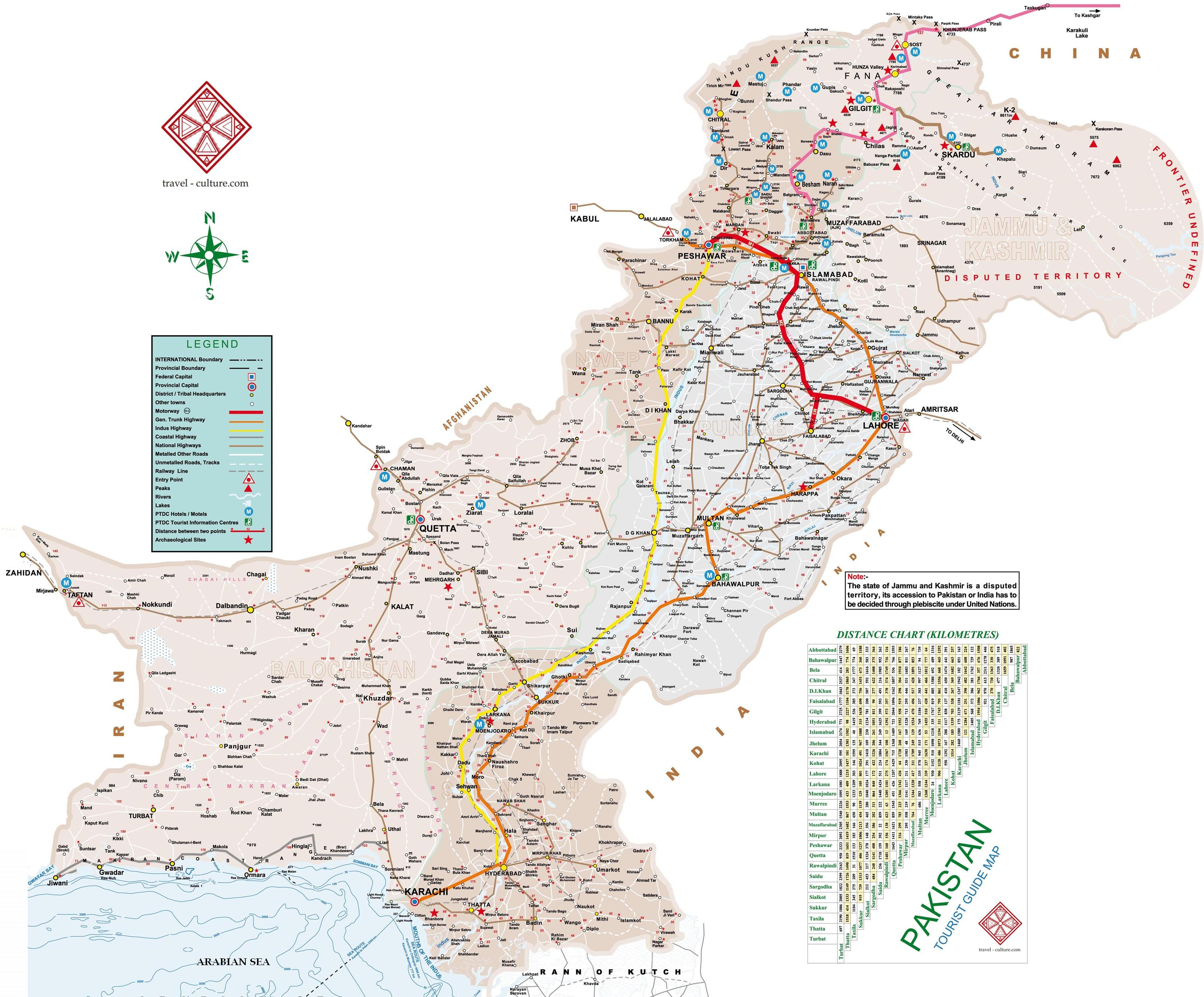 photo regarding Silk Road Map Printable referred to as Pakistan Map The maps of Pakistan