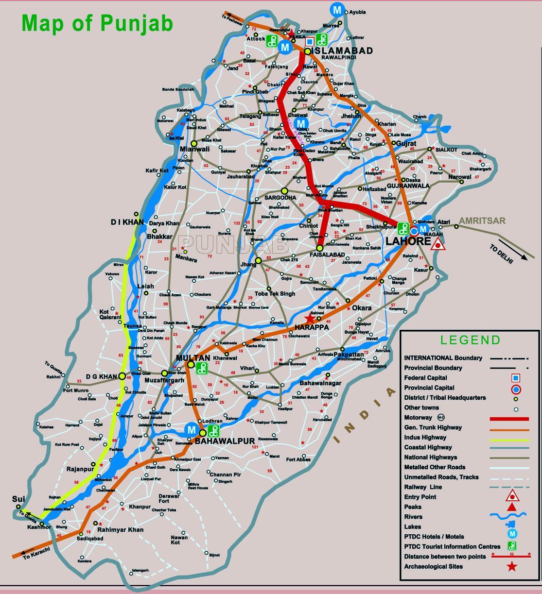 Pakistan Map The maps of Pakistan